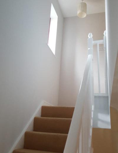 Interior painting & decorating to downstairs hallway