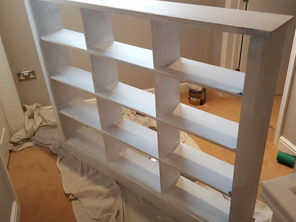 Bespoke bookcase before